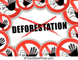no deforestation - illustration of abstract design concept...