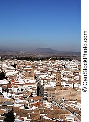 View across city, Antequera - View over the city rooftops...