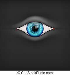 Background with human eye - Illustration of Black Background...