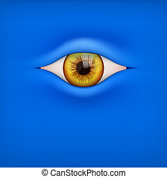 Background with human eye - Illustration of Blue Background...