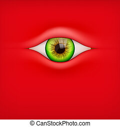 Background with human eye - Illustration of Red Background...
