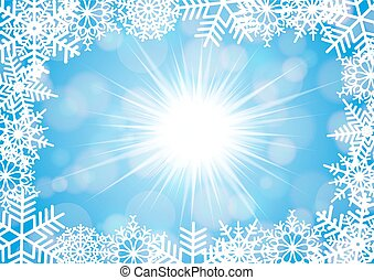 Snowflake frame with background - Illustration of Christmas...