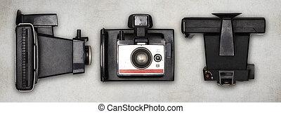 old polaroid photo camera