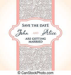 Wedding invitation card design with multicolored drops ,...
