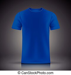 blue T-shirt template isolated on black background