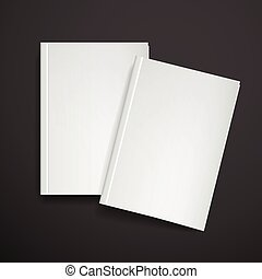 3d blank book cover