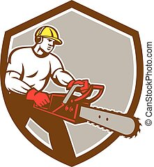 Lumberjack Tree Surgeon Arborist Chainsaw Shield -...