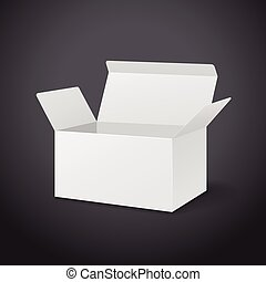 blank carton with soft shadow isolated on black background