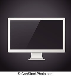 flat screen TV isolated on black background