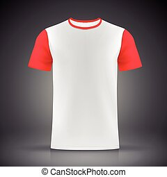 white and red T-shirt template