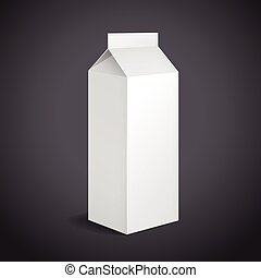 blank drink packaging with soft shadow isolated on black...