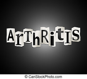 Arthritis concept. - Illustration depicting a set of cut out...