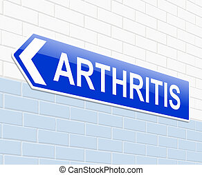 Arthritis concept - Illustration depicting a sign with an...