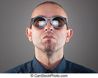 óculos de sol, homem