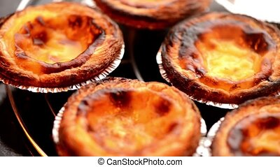 Pastel de nata, typical pastry from Lisbon - Portugal.