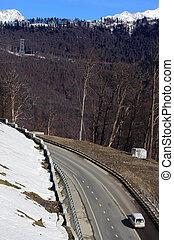 mountain road near Krasnaya Polyana, Krasnosar Krai, Russia