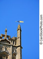 Chipping Campden church detail - St James church tower,...