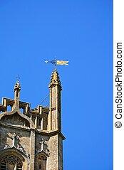 Chipping Campden church detail. - St James church tower,...