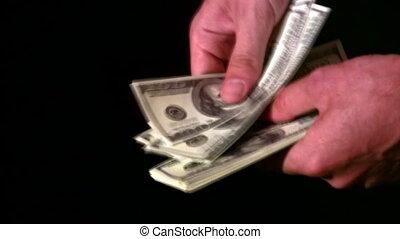 count dollars in hands