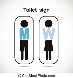 Man and woman toilet sign, restroom symbol . Vector...