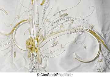 Sequined Wedding Gown - Texture of white, sequined wedding...
