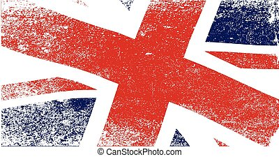 Union Jack Fade - A faded British Union Jack flag fluttering...