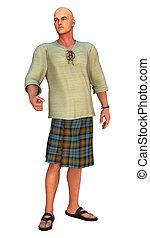 moderno, Falda escocesa