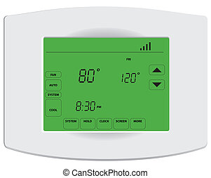 Programmable digital thermostat with touch screen and Wi-Fi....