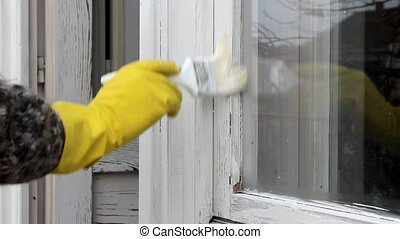 Wooden window repairing