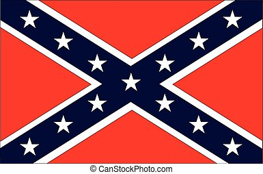 Confederate Flag - The flag of the confederates during the...