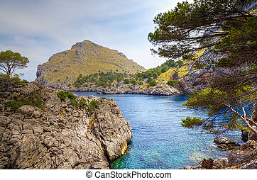 Sa Calobra on Majorca - A view from the Sa Calobra on...