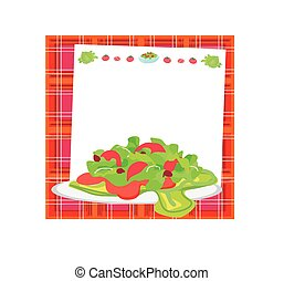 fresh vegetable salad card