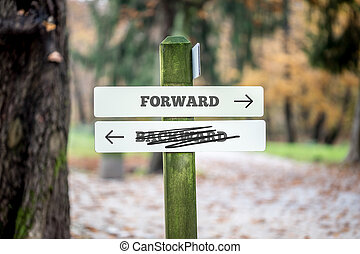 Rural signboard - Forward - Backward - Rural signboard with...