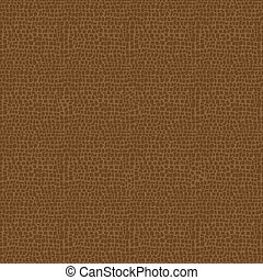 Vector Leather Texture - Vector illustration of brown...