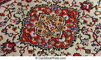 oriental carpet rotating