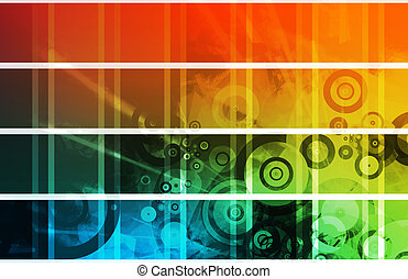Website Design Elements Clip Art - Colorful and Cool Website...