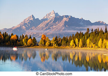 Autumn in Grand Teton - Autumn in Grand Teton National Park,...