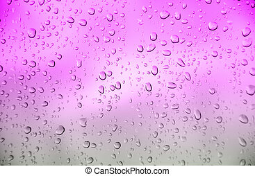 Drop water - abstract violet color background with drop...