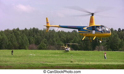 MOSCOW, RUSSIA - JULE 19: The international competitions on helicopter sports  the Cup of KB Mile have passed Jule 19, 2008 in Moscow, Russia.