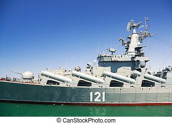 Dia, militar, marinho, mar, frota, de, rússia,