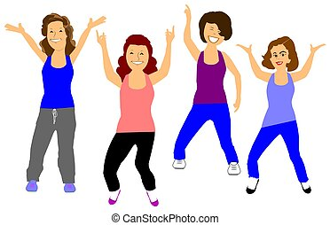exercising  - women working out