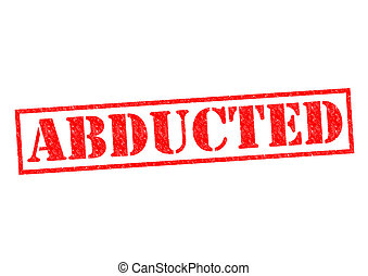 ABDUCTED red Rubber Stamp over a white background