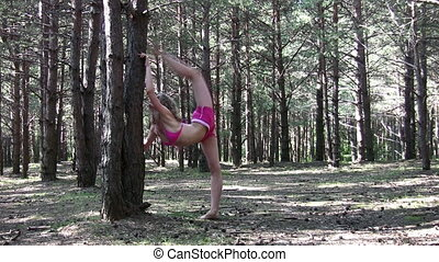 fitness girl in park