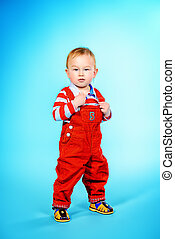 infant boy - Full length portrait of a cute baby boy...