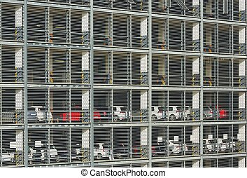 Parking Garage - Exterior of the multi level car parking...