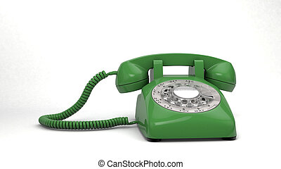 green Phone isolated