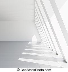 vacío, blanco, vestíbulo,