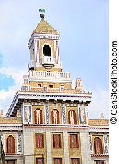 Art deco building in havana - Detail of art deco style...