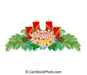 Christmas decoration Advent wreath - Christmas Advent wreath...