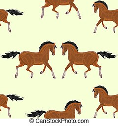 Seamless texture Brown horse vect - Seamless texture Brown...